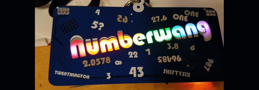 The Numberwang badge at #CCCamp2019 runs #CircuitPython #CCCamp19 @timonsku @HackadayIO @MicrochipMakes